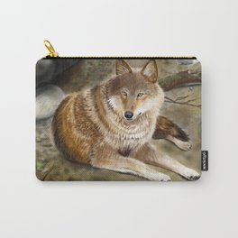 Wolf by the Riverbed Carry-All Pouch