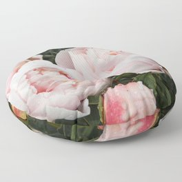 Flower Photography | Peonies Cluster | Blush Pink Floral | Peony Floor Pillow