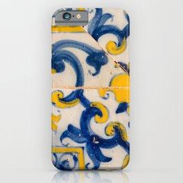 Portuguese azulejos, city of Ericeira iPhone Case