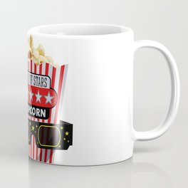 Buttered Popcorn and 3D Movie glasses Coffee Mug