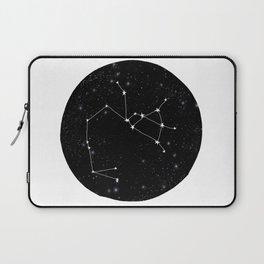Sagittarius constellation zodiac star sign black and white minimal art Laptop Sleeve