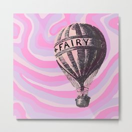 floating fairy balloon Metal Print