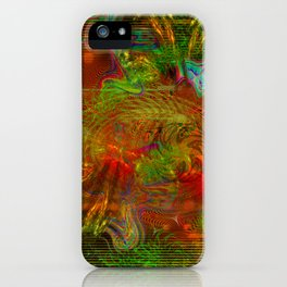 Swirling Stew (abstract, psychedelic, visionary) iPhone Case