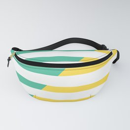 Beach Stripes Green Yellow Fanny Pack