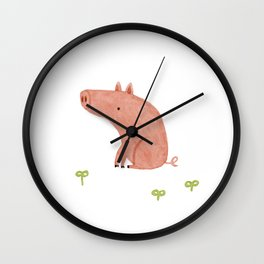 Sitting Pig Wall Clock