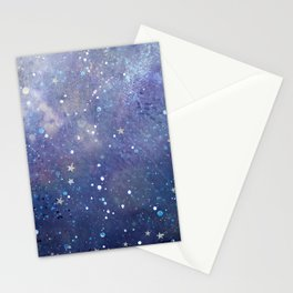 Glitter space Stationery Cards
