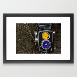 Camera Vase Framed Art Print
