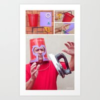 magneto Art Prints featuring Magneto by Vó Maria
