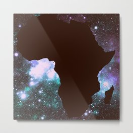 African Galaxy : Purple Teal Green Metal Print