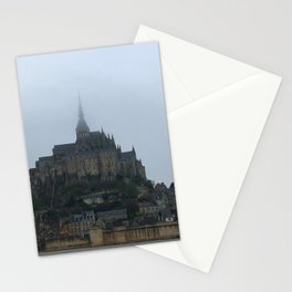 Mont Saint Michel From the Fog Stationery Cards