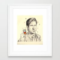 mulder Framed Art Prints featuring Mulder by withapencilinhand