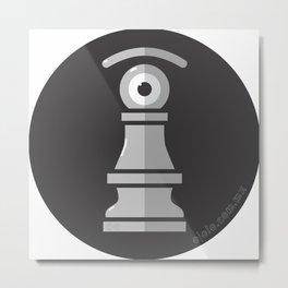 pawn's eye b&w Metal Print