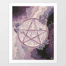 Amethyst Pentagram Art Print