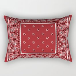 Classic Red Bandana Rectangular Pillow