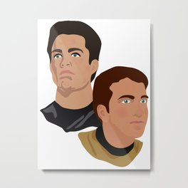 The Two Captains Metal Print