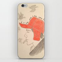 catcher in the rye iPhone & iPod Skins featuring Catcher In the Rye by Moira Sweeney