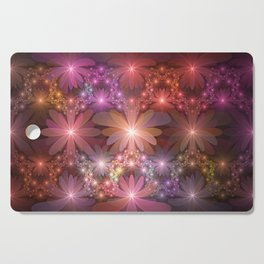 Bed Of Flowers Abstract, Fractal Art Cutting Board