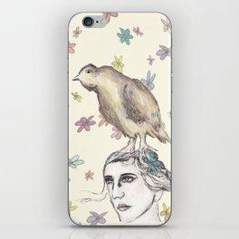 Spring Bird and Wildflowers iPhone Skin