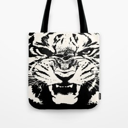White Tiger Vector Tote Bag