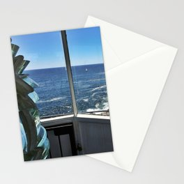 View from Inside Pemaquid Point Lighthouse in Maine (1) Stationery Cards