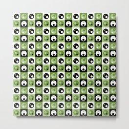 Circles within a Circle - Green Metal Print