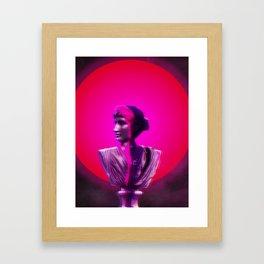 Vaporwave Glow Framed Art Print