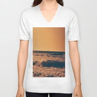 boat V-neck T-shirts featuring boat by Catalina Matei