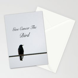 Give Cancer the Bird 2 Stationery Cards