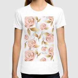 Blushing blooms T-shirt