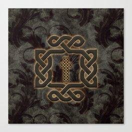 Decorative celtic knot, vintage design Canvas Print
