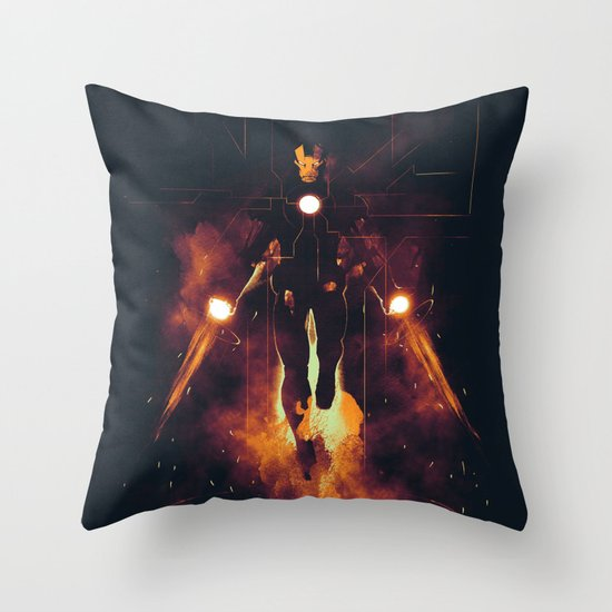 Red shining Throw Pillow