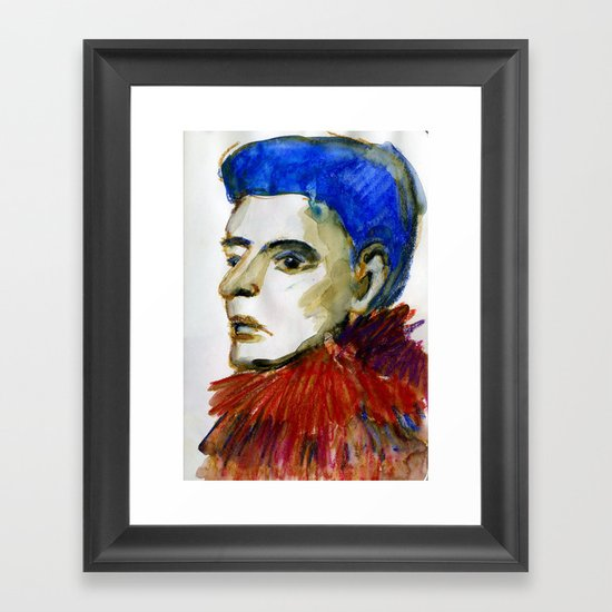 Face 22 Framed Art Print