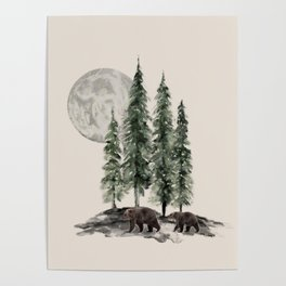 Full Moon Rising Poster