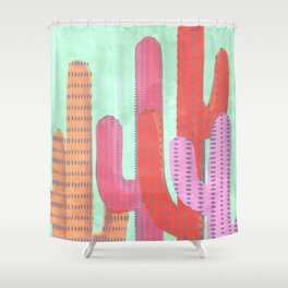 Funny Cactus Jungle Shower Curtain