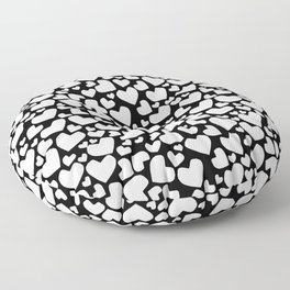 White Hearts Floor Pillow