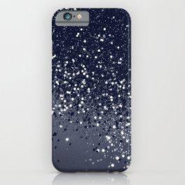 Sparkling Navy Blue Summer Night Glitter #1 #shiny #decor #art #society6 iPhone Case
