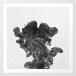 Smokey kiss. Art Print