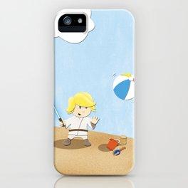 SW Kids - Luke at the Beach iPhone Case