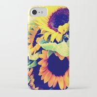 always sunny iPhone & iPod Cases featuring Always Sunny Sunflowers by LeeAnnPoling