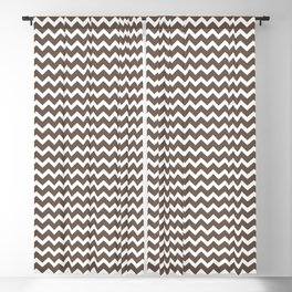 Chevron Zigzag Horizontal Lines Benjamin Moore 2019 Accent Color Mustang Brown 2111-30 on Pure White Blackout Curtain