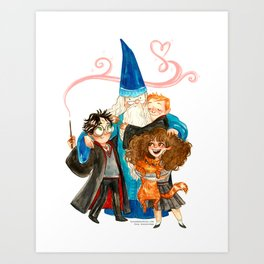 Harry Potter Hug Art Print