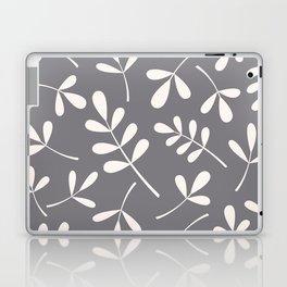 Assorted Leaf Silhouettes Cream on Grey Laptop & iPad Skin