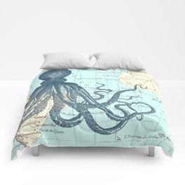 Map Octopus Comforters
