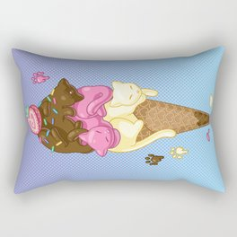 Triple Scoop Kitty Cone Rectangular Pillow