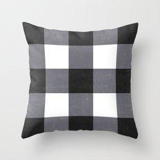 Gingham Dark Style Throw Pillow