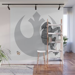 Droid Eek! (grey) - BB8 and AT-AT Standoff Wall Mural