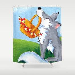 Alfresco Wolf Shower Curtain