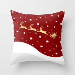 Red Christmas Santa Claus Throw Pillow