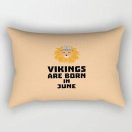 Vikings are born in June T-Shirt Dni2i Rectangular Pillow