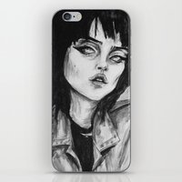 sky ferreira iPhone & iPod Skins featuring Sky ferreira no. 10  by Lucas David